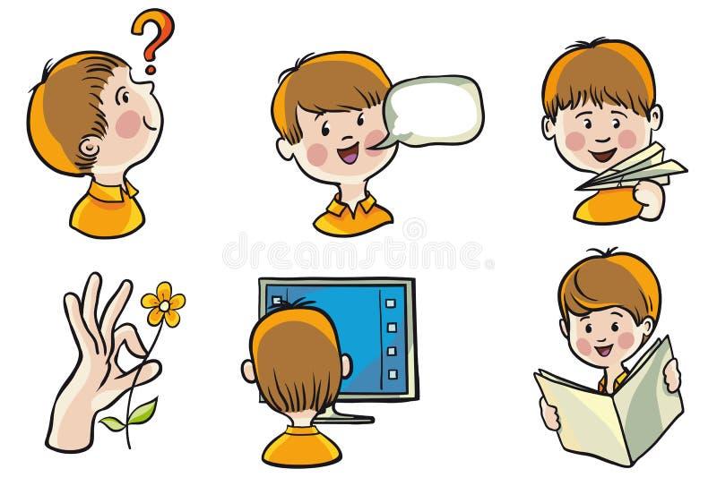 Entwicklung von Kindern lizenzfreie abbildung