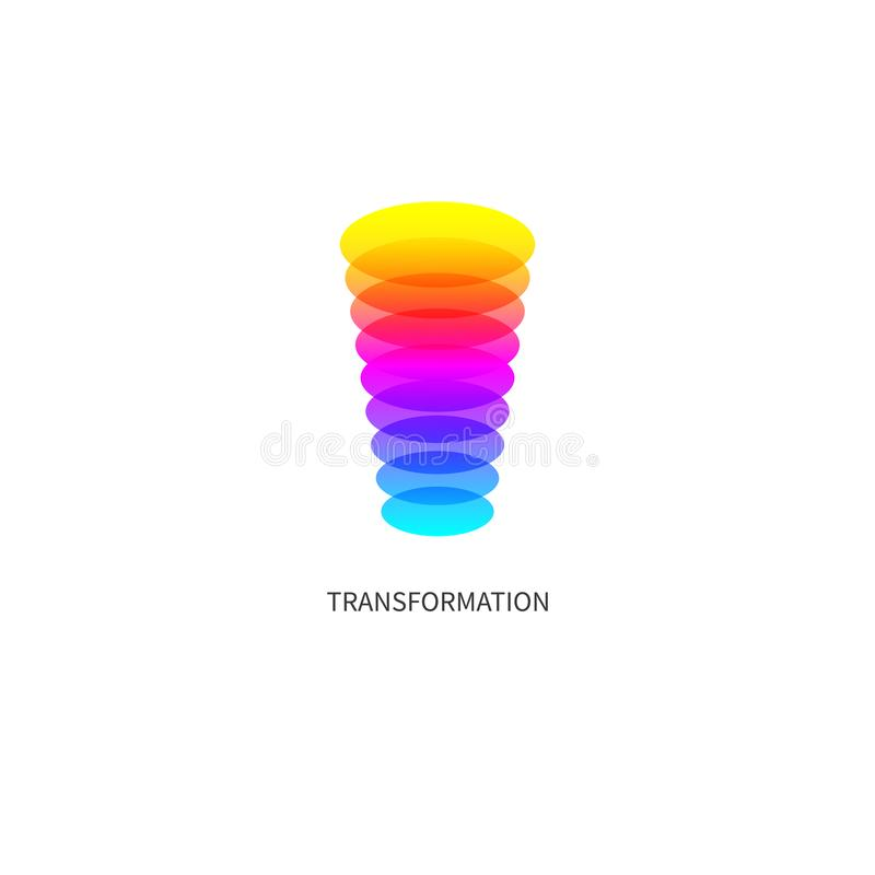 Entwicklung, Werbesymbol, Coaching-Logo vektor abbildung