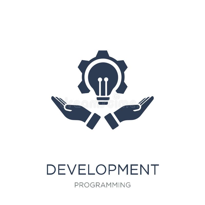 Entwicklungsikone Modische flache Vektor Entwicklungsikone auf weißem b lizenzfreie abbildung