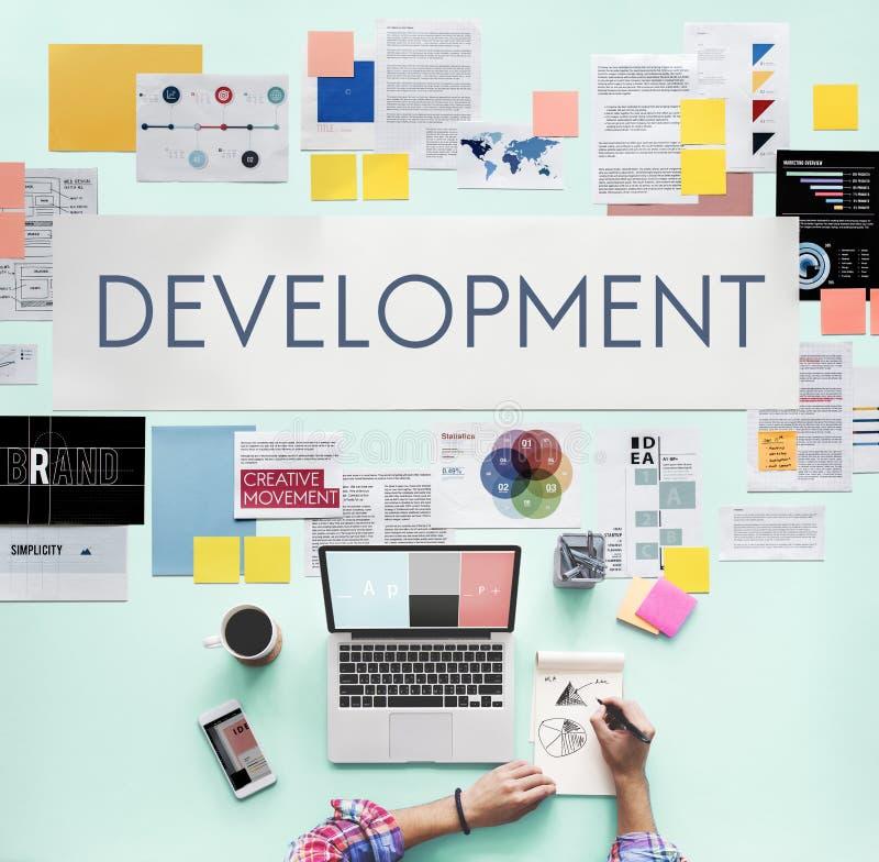 Entwicklungsprozess-Lösungs-Strategie-Konzept stockfotografie
