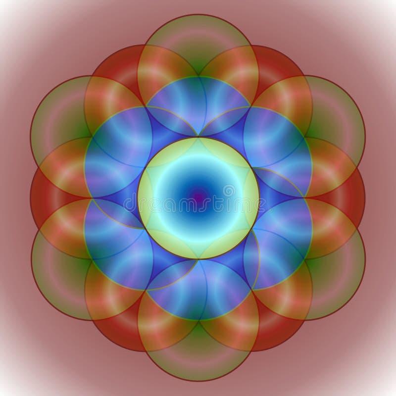 Entwined круги иллюстрация вектора