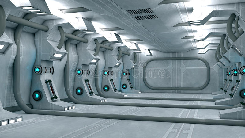 Futuristischer Innenraum stock abbildung