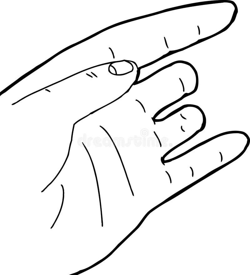 Entwurf der Hand mit den fehlenden Fingern stock abbildung