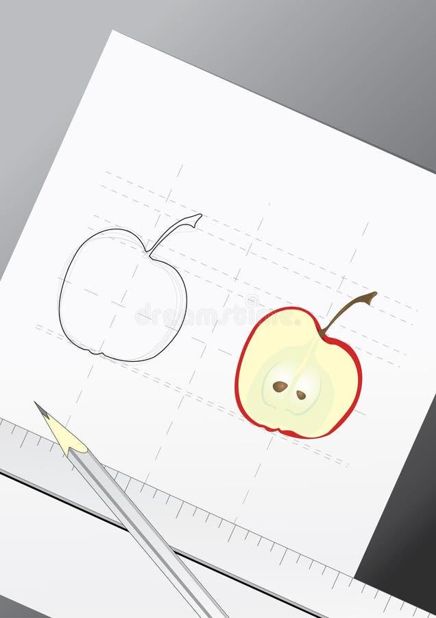 Entwurf des Apfels lizenzfreie abbildung