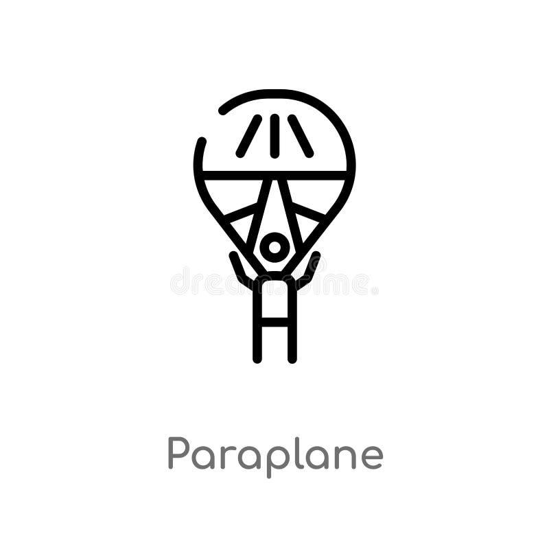 Entwurf paraplane Vektorikone lokalisiertes schwarzes einfaches Linienelementillustration von der Unterhaltung und vom S?ulengang stock abbildung