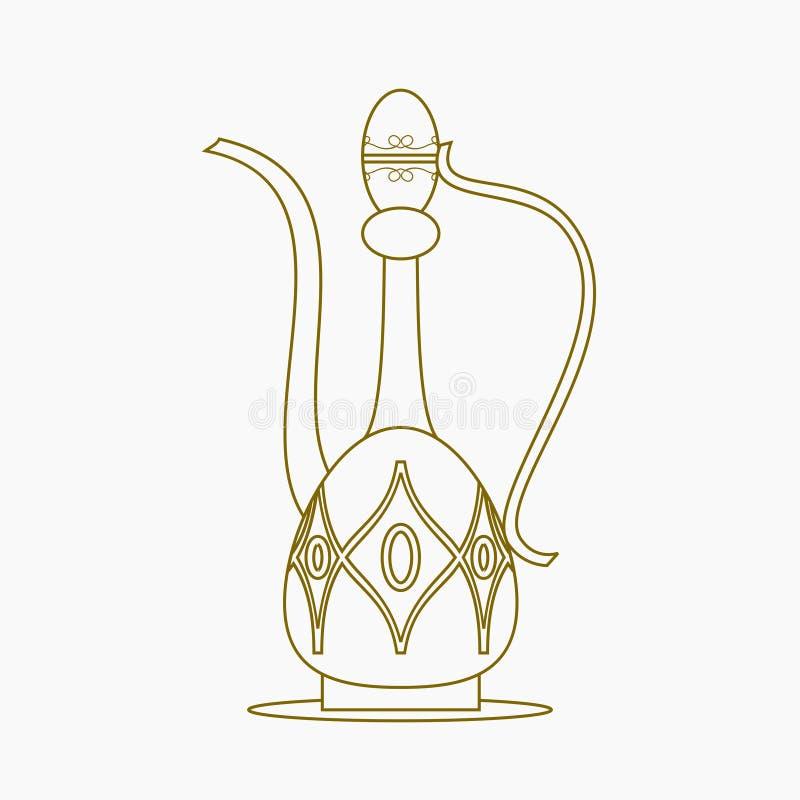 Entwurfs-Art-arabischer Kaffee-Krug lizenzfreie abbildung