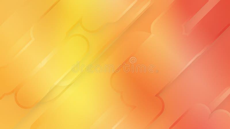 Entwurfs-Formgraphik des Hintergrundes abstrakte, dynamische Landung stock abbildung