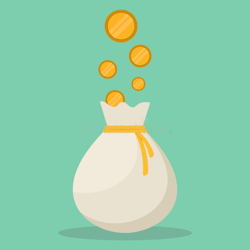 Entwurfs-Vektorillustration der Geldtasche flache stock abbildung