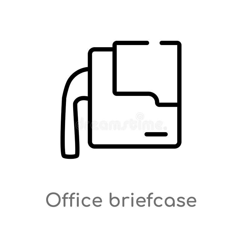 Entwurfsbüroaktenkoffer-Vektorikone lokalisiertes schwarzes einfaches Linienelementillustration vom Modekonzept Editable Vektoran lizenzfreie abbildung