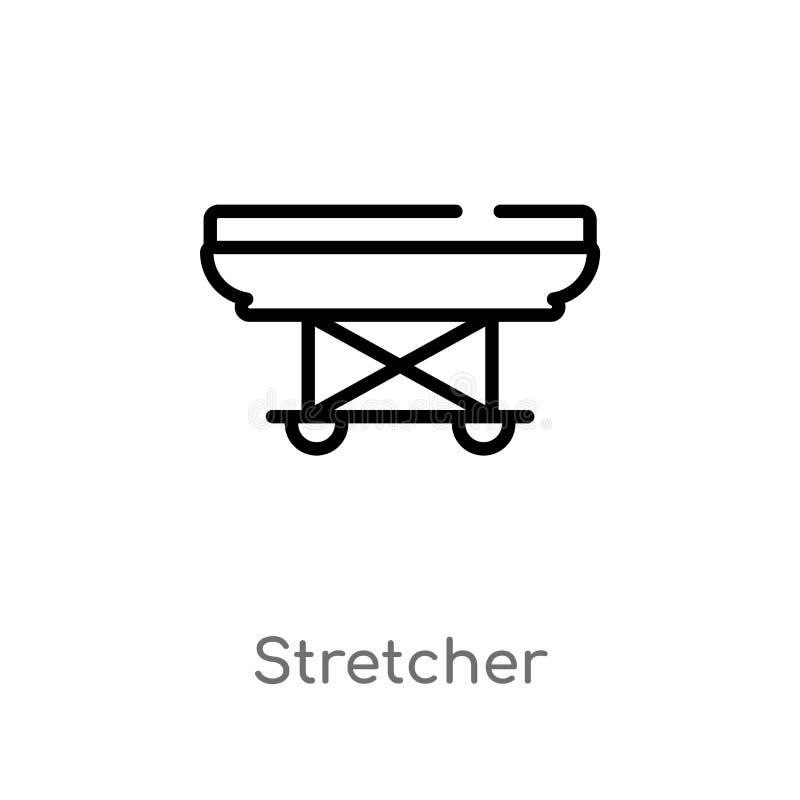 Entwurfsbahren-Vektorikone lokalisiertes schwarzes einfaches Linienelementillustration vom wachsamen Konzept Editable Vektoransch lizenzfreie abbildung