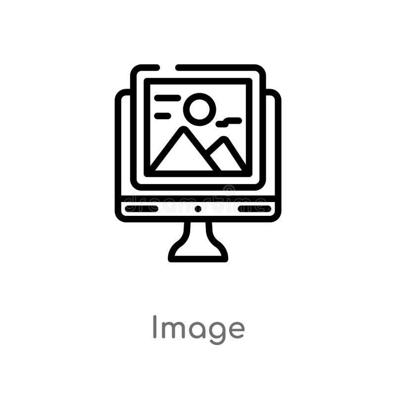 Entwurfsbild-Vektorikone lokalisiertes schwarzes einfaches Linienelementillustration vom Suchmaschinen-Optimierungs-Konzept edita stock abbildung
