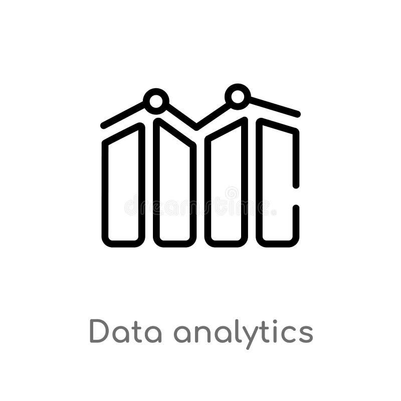 Entwurfsdaten Analytics-Vektorikone lokalisiertes schwarzes einfaches Linienelementillustration vom Benutzerschnittstellenkonzept lizenzfreie abbildung
