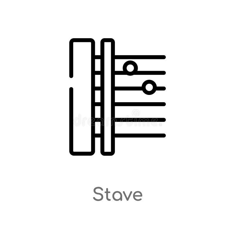 Entwurfsdauben-Vektorikone lokalisiertes schwarzes einfaches Linienelementillustration von der Musik und von der Werbekonzeption  stock abbildung