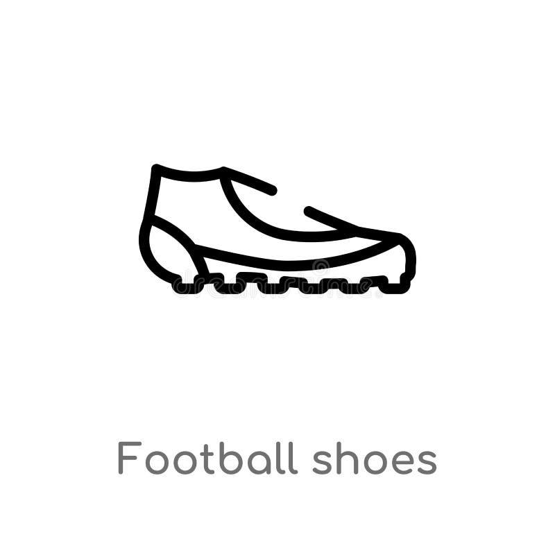 Entwurfsfußballschuh-Vektorikone r Editable Vektoranschlag stock abbildung