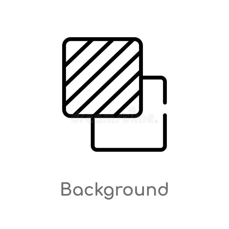 Entwurfshintergrund-Vektorikone lokalisiertes schwarzes einfaches Linienelementillustration von der geometrischen Zahl Konzept Ed lizenzfreie abbildung