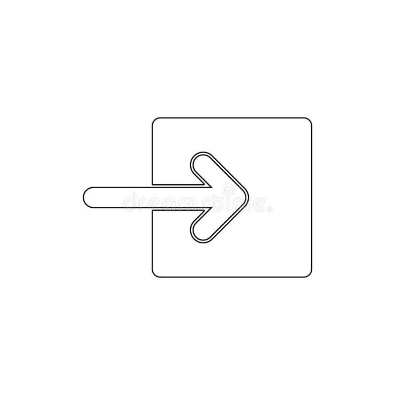 Entwurfsikone der rechten Verbindung des Pfeiles quadratische Zeichen und Symbole k?nnen f?r Netz, Logo, mobiler App, UI, UX verw vektor abbildung