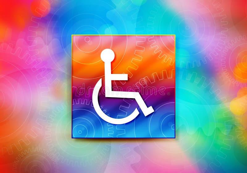 Entwurfsillustration bokeh Hintergrund der Rollstuhlhandikapikonenzusammenfassung bunte vektor abbildung