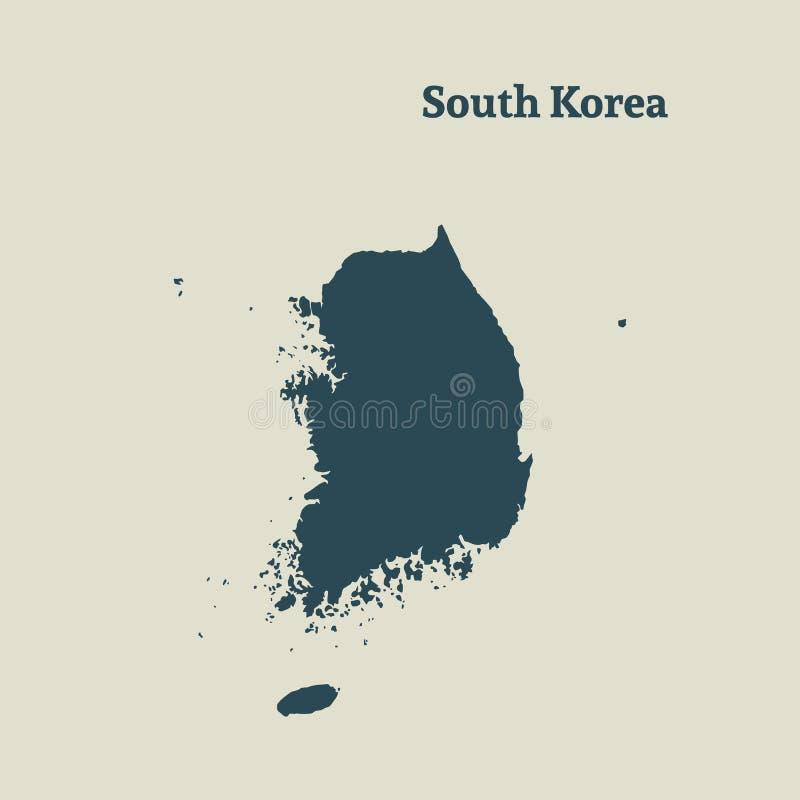 Entwurfskarte von Südkorea Abbildung stock abbildung