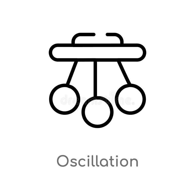 Entwurfsoszillations-Vektorikone lokalisiertes schwarzes einfaches Linienelementillustration vom Wissenschaftskonzept Editable Ve vektor abbildung