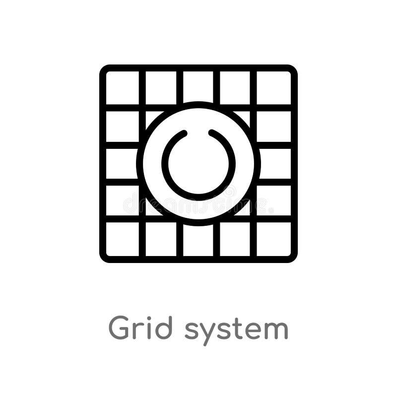 Entwurfsplanquadrat-Vektorikone lokalisiertes schwarzes einfaches Linienelementillustration vom Technologiekonzept Editable Vekto lizenzfreie abbildung