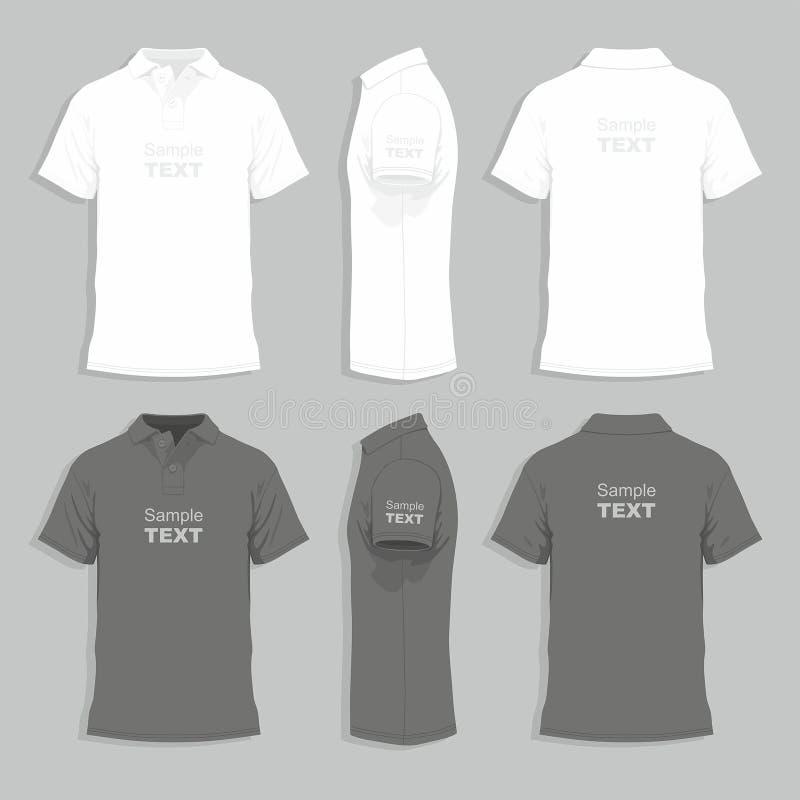 Entwurfsschablone das T-Shirt der Männer lizenzfreie abbildung