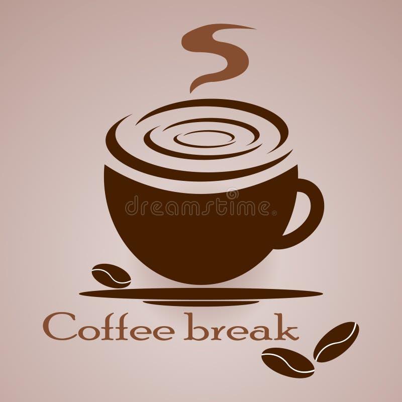 Entwurfsschale heißer, wohlriechender Kaffee vektor abbildung