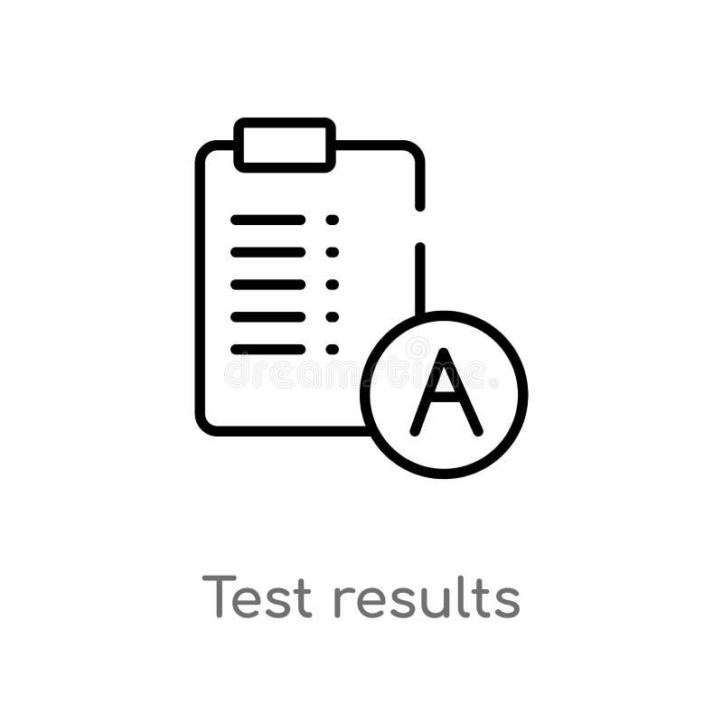 EntwurfsTestergebnis-Vektorikone lokalisiertes schwarzes einfaches Linienelementillustration vom Ausbildungskonzept Editable Vekt stock abbildung