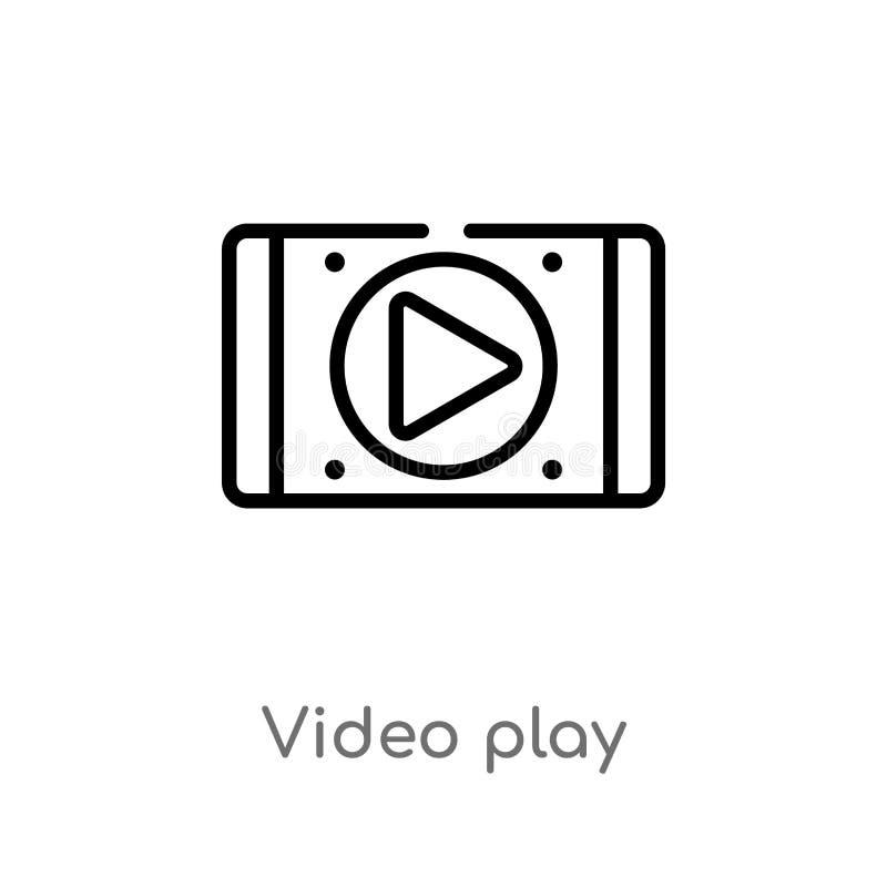 Entwurfsvideospiel-Vektorikone lokalisiertes schwarzes einfaches Linienelementillustration vom Benutzerschnittstellenkonzept Edit lizenzfreie abbildung