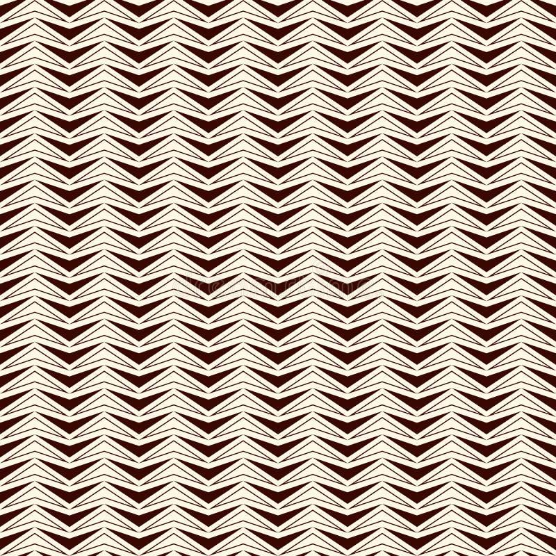 Entwurfszickzack-Zusammenfassungshintergrund Rote Farbnahtloses Muster mit wiederholtem stilisiertem Dreieckmosaik Moderne Bescha vektor abbildung
