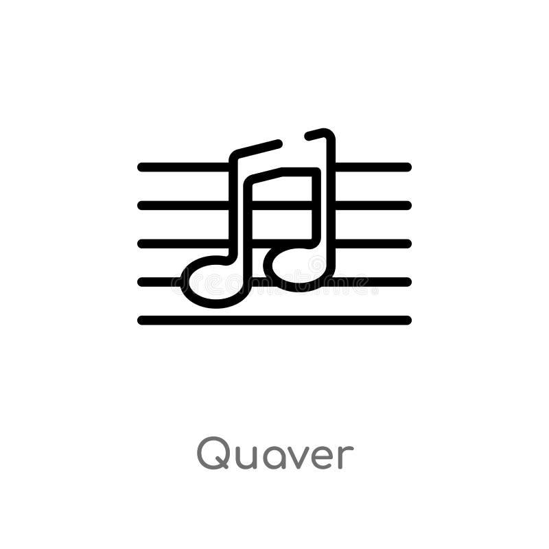 Entwurfszittern-Vektorikone lokalisiertes schwarzes einfaches Linienelementillustration von der Musik und von der Werbekonzeption stock abbildung