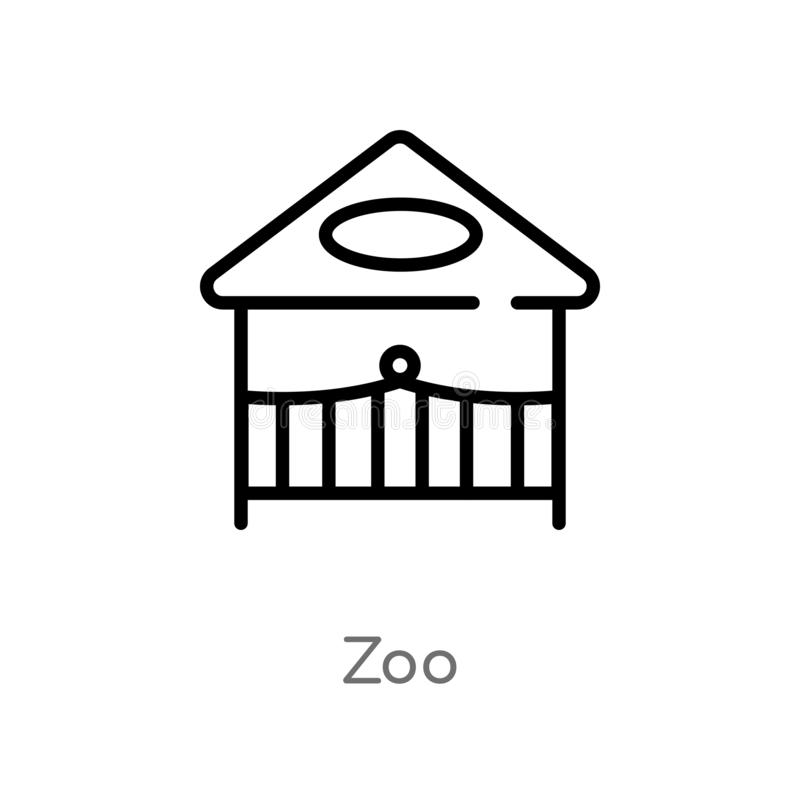 Entwurfszoo-Vektorikone lokalisiertes schwarzes einfaches Linienelementillustration von der Unterhaltung und vom S?ulengangkonzep vektor abbildung