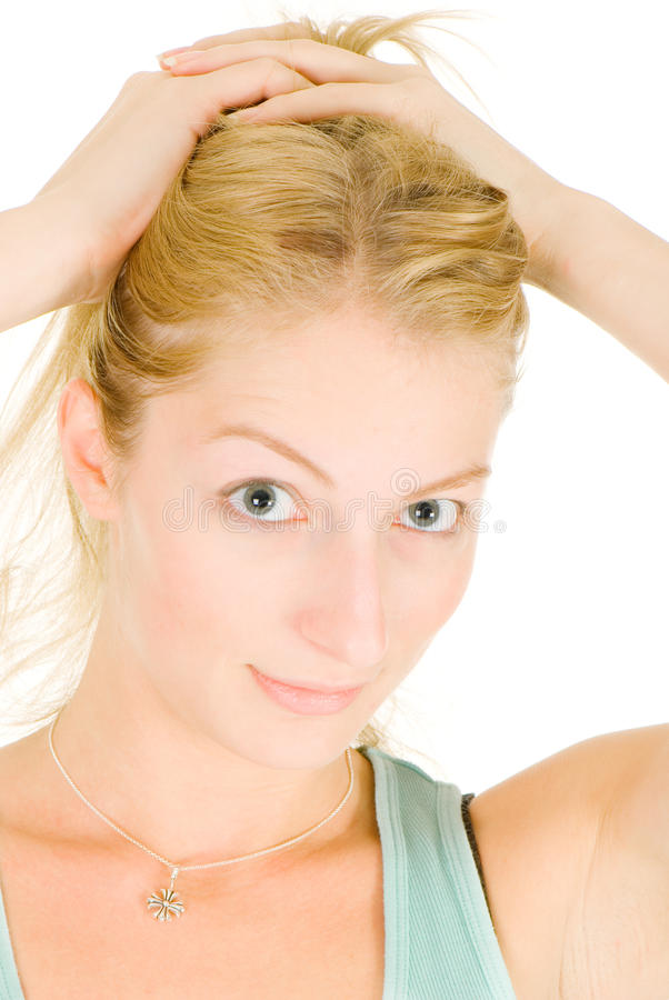 Entzückende Blondine mit sehr sauberer Haut stockfotos