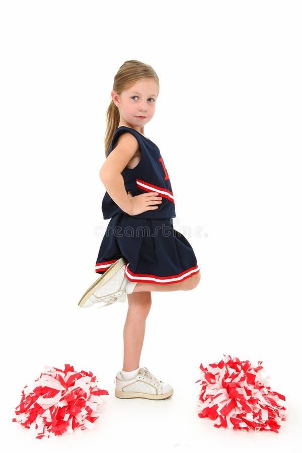 Entzückende Cheerleader stockfotos