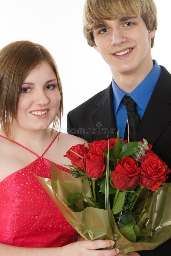 Entzückende jugendlich Paare stockfotos