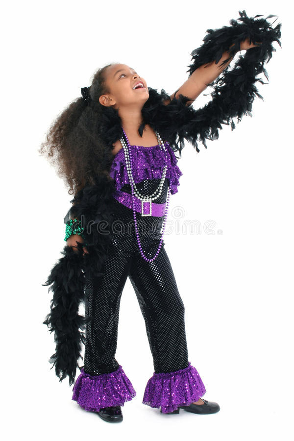 Entzückende Kind-Tanz-Diva stockfotografie
