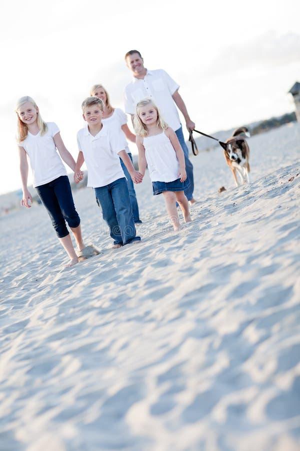 Entzückende Kinder und Familie auf einem Weg stockfotos