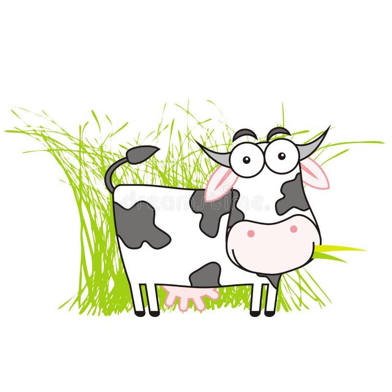 Entzückende Kuh vektor abbildung