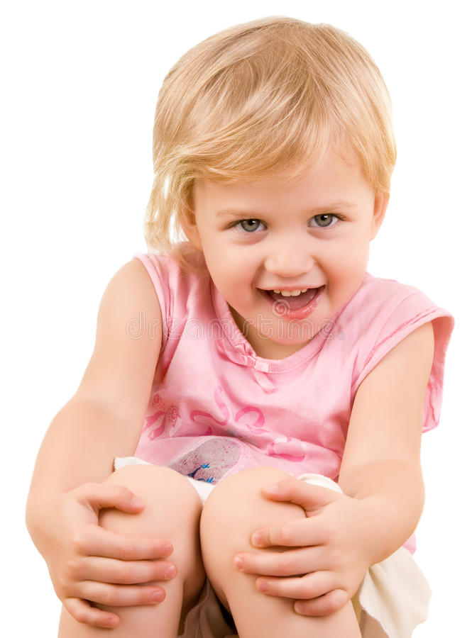 Entzückende Nahaufnahme des kleinen Mädchens stockfotografie