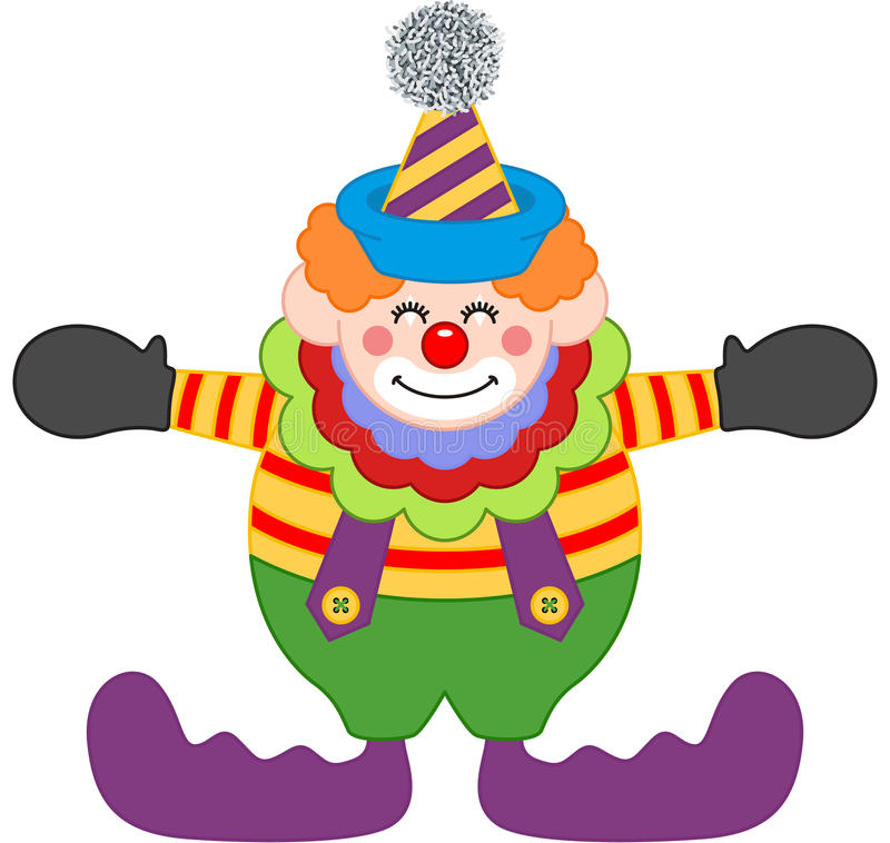 Entzückender glücklicher Clown stock abbildung