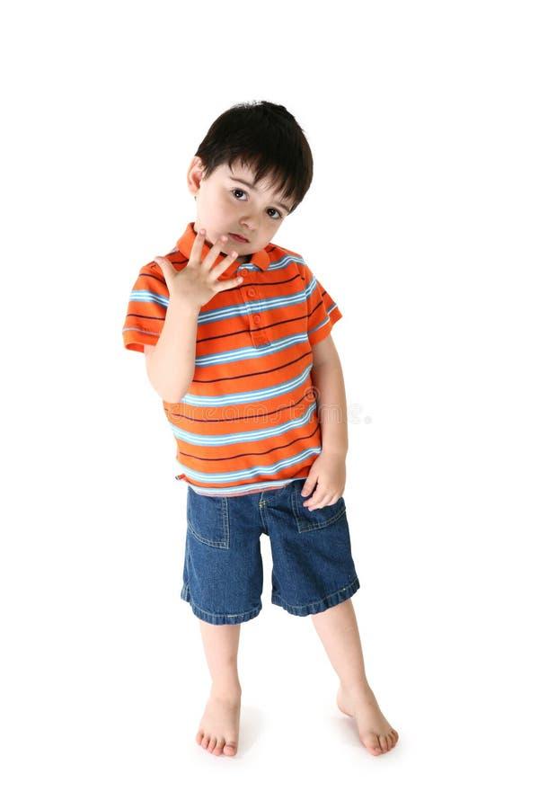 Entzückender Junge lizenzfreies stockfoto
