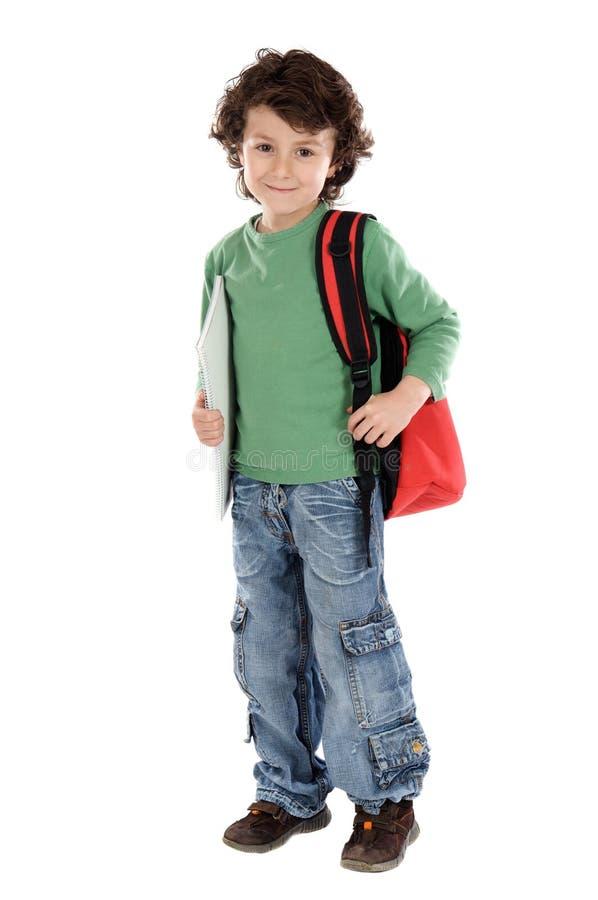 Entzückender Kindkursteilnehmer lizenzfreie stockbilder