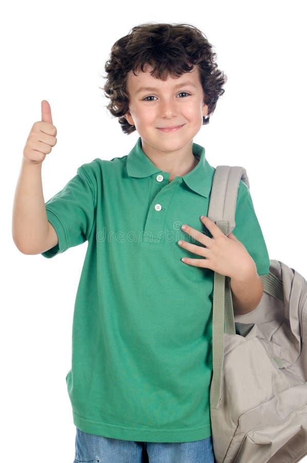 Entzückender Kindkursteilnehmer stockbild