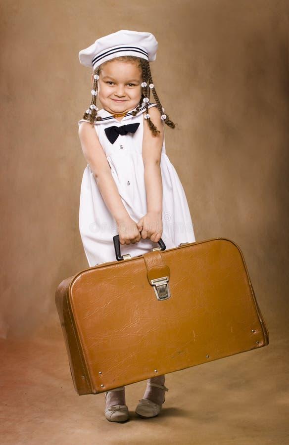 Entzückendes afrikanisches kleines Mädchen. Retro- Artstudio s lizenzfreie stockbilder