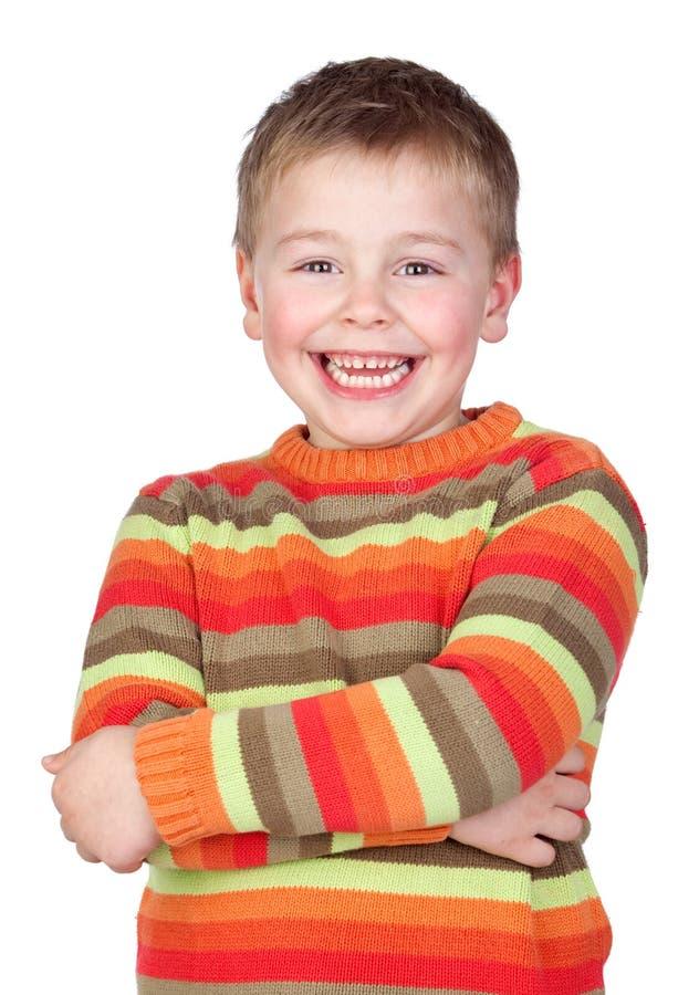 Entzückendes Kind mit dem blonden Haar stockfotos