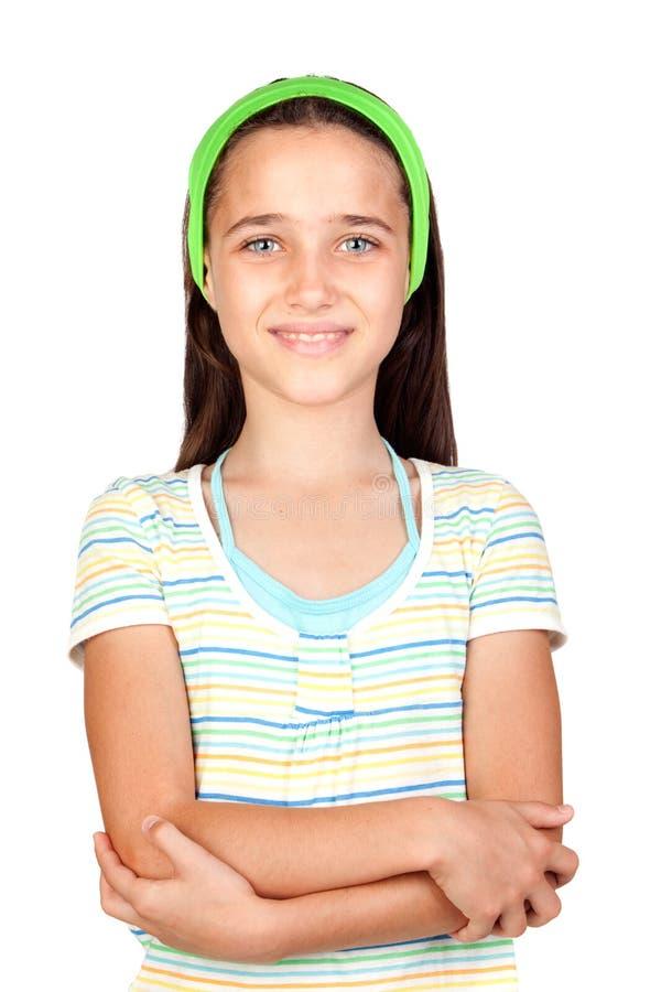 Entzückendes kleines Mädchen mit blauen Augen stockfotos