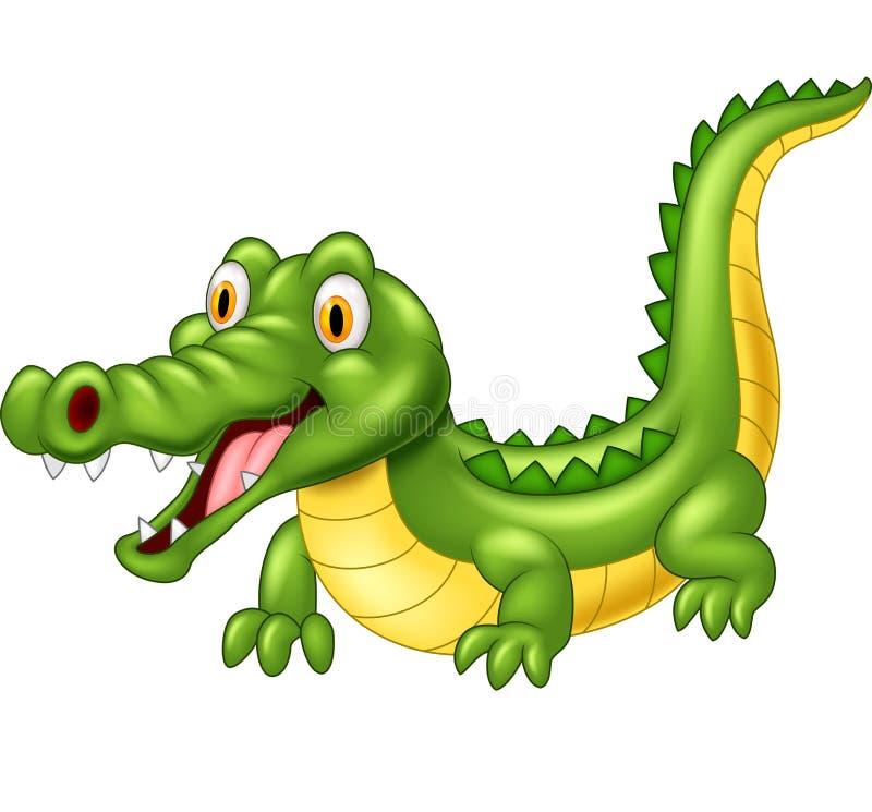 Entzückendes Krokodil der Karikatur stock abbildung