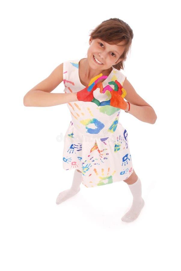 Entzückendes lächelndes kleines Mädchen lizenzfreie stockfotografie