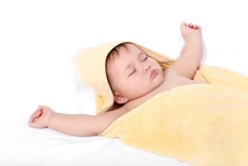 Entzückendes schlafendes Schätzchen stockfoto