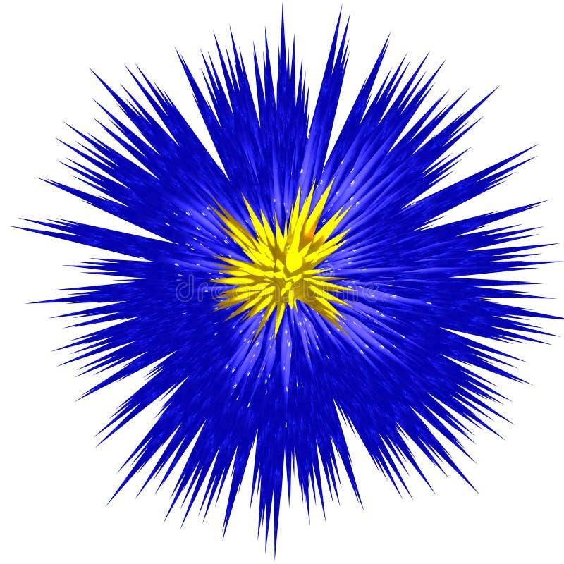 Entziehen Sie blaue Blume lizenzfreie abbildung