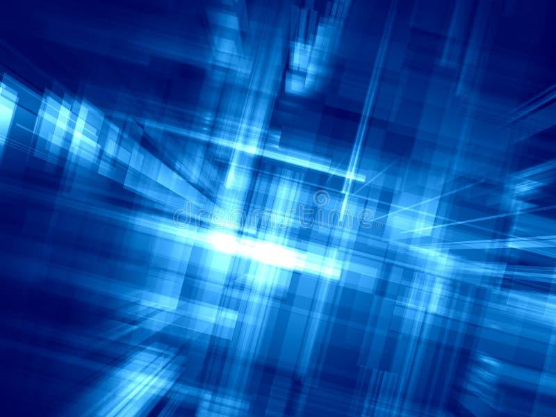 Entziehen Sie blauen Hintergrund lizenzfreie abbildung